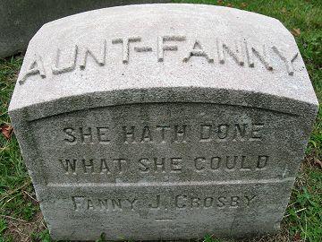 Fanny Crosby grave